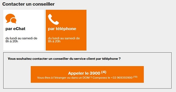 contact operateur mobile